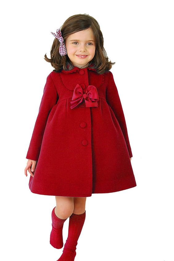 New Kids Girls Winter Clothes Fleece Outerwear Long Trench Wind