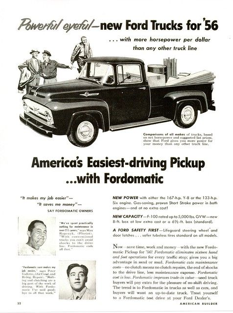 1956 Ford F 100 Usa In 2020 Ford Trucks 1956 Ford Truck 56 Ford Truck