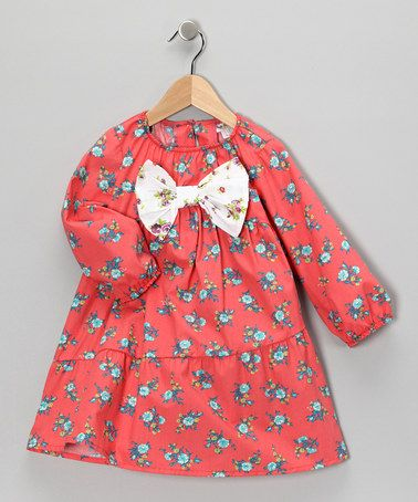 I love this for Hannah for school next year!    Take a look at this Pink & Turquoise Floral Bow Dress - Infant, Toddler & Girls by Right Bank Babies on #zulily today!