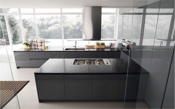 KH System Möbel Küche in Softlack Indigo und Icy White mit - vintage möbel küche