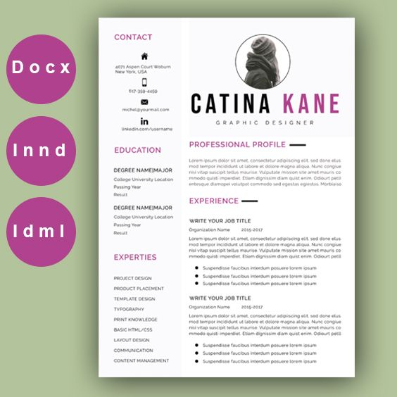 Resume Template Modern Resume Professional Resume Creative