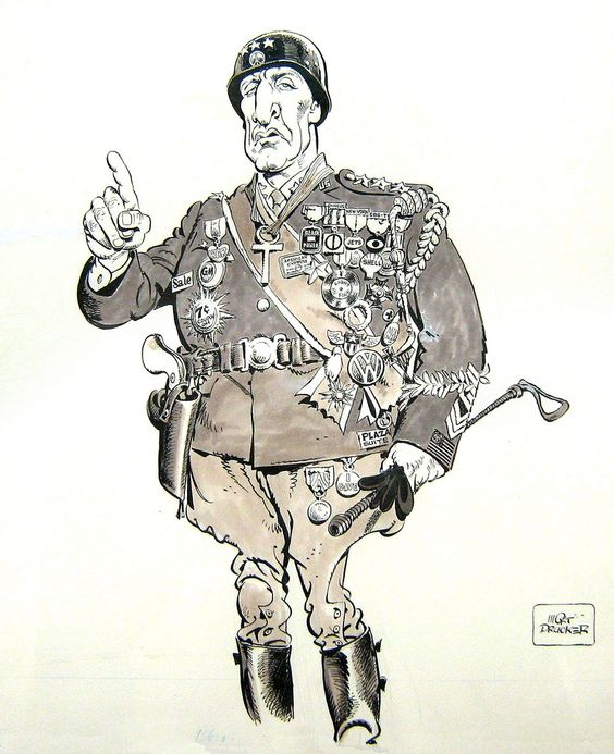 Image result for GENERAL PATTON CARTOON