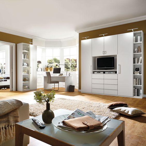 MY WAY Wohnraumkombination in Weiß Matt