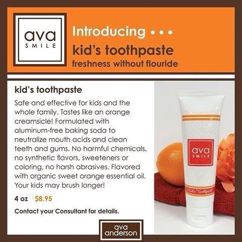 Even though the regular peppermint toothpaste was safe for kids this NEW one taste like Orange creamsicle! Kids will love it! (6+ months and older)  www.avaandersonnontoxic.com/sheilalaux