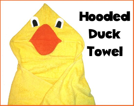 Hooded Duck Towel Tutorial - Peek-a-Boo Pages - Sew Something Special