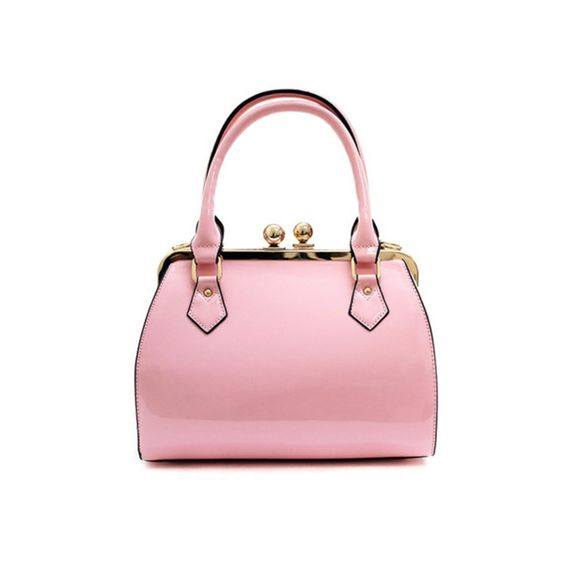 Classic Pink Structured Satchel Bag ($50) ❤ liked on Polyvore ...
