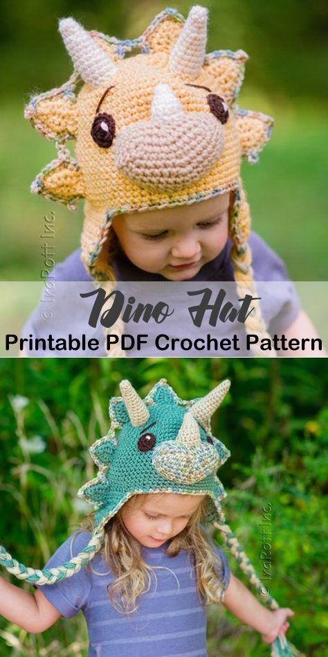 Make A Dino Hat Animal Hat Crochet Patterns Crochet Pattern Pdf Amorecraftylife Com Hat Baby Croch Crochet Hats Crochet Hat Pattern Crochet Animal Hats