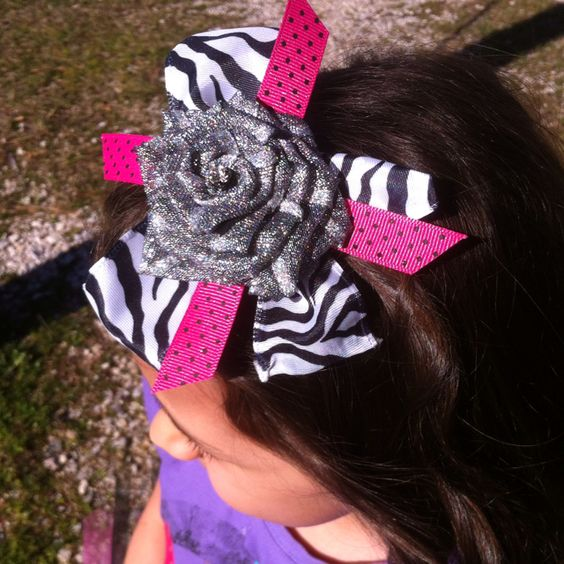 Ribbon rose hair bow!