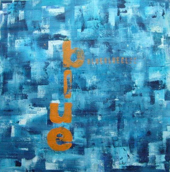 Blue  50cm x 50cm  Acryl