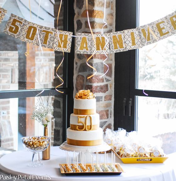 50th Wedding Anniversary Party Ideas: Wedding, Cake Ideas And Cakes On Pinterest