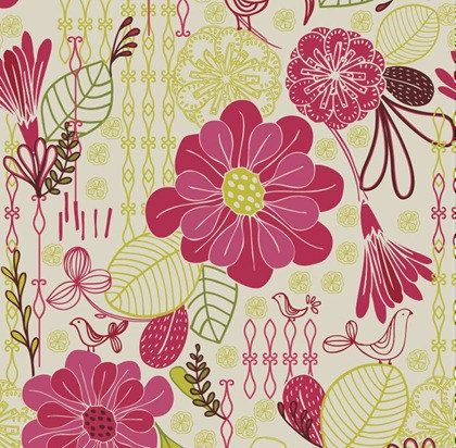 Cool Retro Flowers Cross Stitch Pattern from https://www.etsy.com/shop/AverlyPatterns