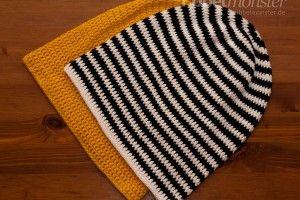 Mütze häkeln – Long Beanie mit ganzen Stäbchen