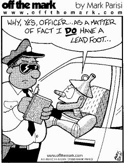 Wacky Wednesday: Lead Foot