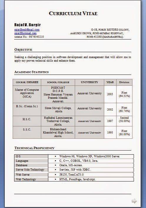 curriculum vitae v resume