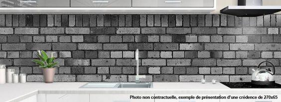 crédence BRIQUES GRISES - design-credence-deco.fr