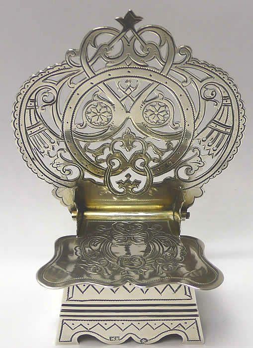 Antique Russian Silver Salt Throne