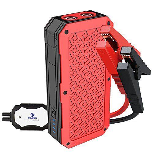 Car Jump Starter EQUEEN Portable Power Pack 800A Peak