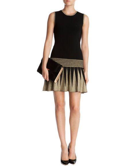 KANDIS - Knitted flapper dress - Black   Womens   Ted Baker UK