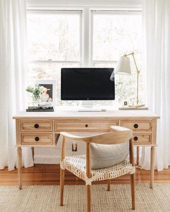 Ave Home Colette Desk | Photo by @jennifernordine of Freckles on Fillmore #bedroomdesk