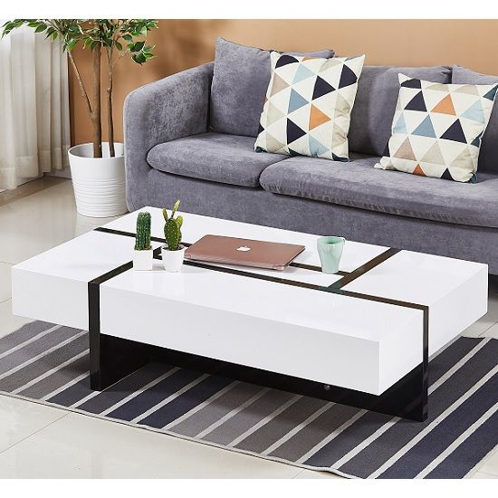 White Storage Coffee Table Uk In 2020 Living Room Furniture Tables Living Room Furniture Uk High Gloss Furniture