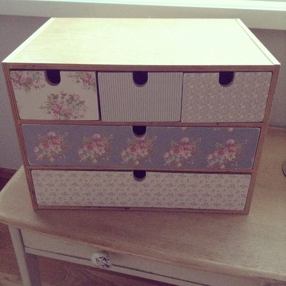 IKEA set of drawers..... Now had a makeover!