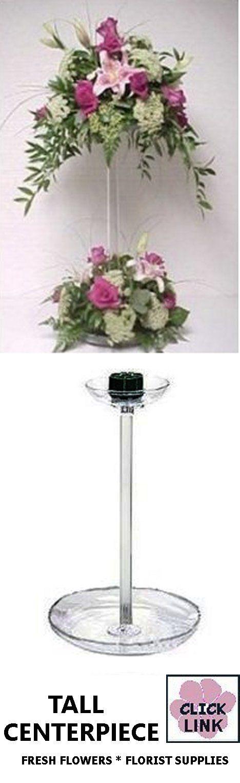Florist supplies tall wedding centerpieces and