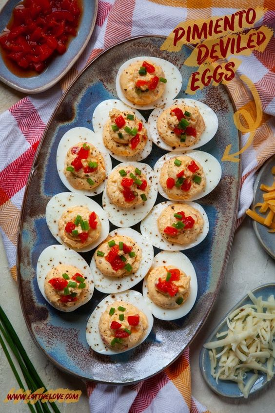 Pimiento Cheese Deviled Eggs for Easter Dinner