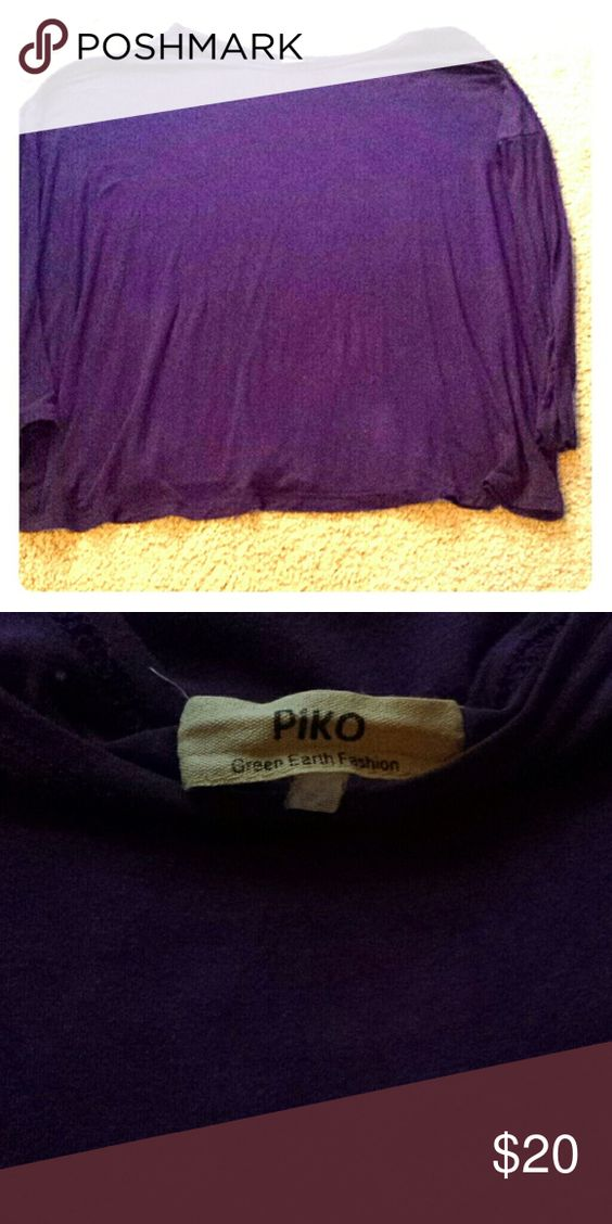 Long sleeve purple Piko top Authentic Piko top. Purple. Piko  Tops Tees - Long Sleeve
