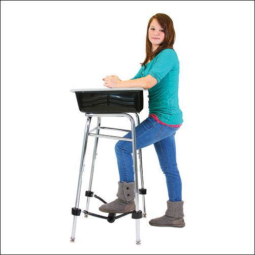 The Standing Desk Conversion Kit With Foot Fidget Footrest Classroom Seating Flexible Seating Classroom Alternative Seating