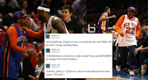 """Hell To Da Naw"" Spike Lee's Twitter session about Nets, Rondo, Shump, Dwight, Nate & others"