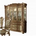 Acme Furniture - Vendome Hutch with Buffet in Gold Patina - 63005