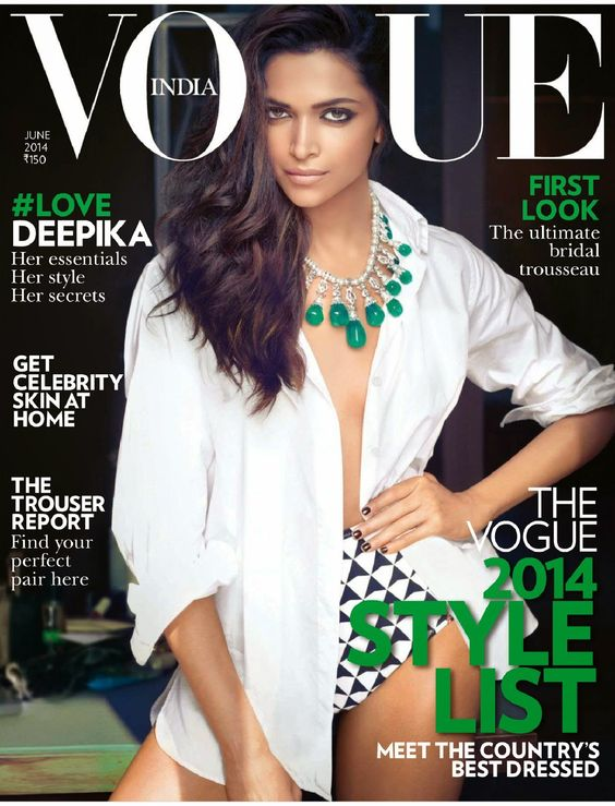 Deepika Padukone - Vogue India June 2014 the Style List