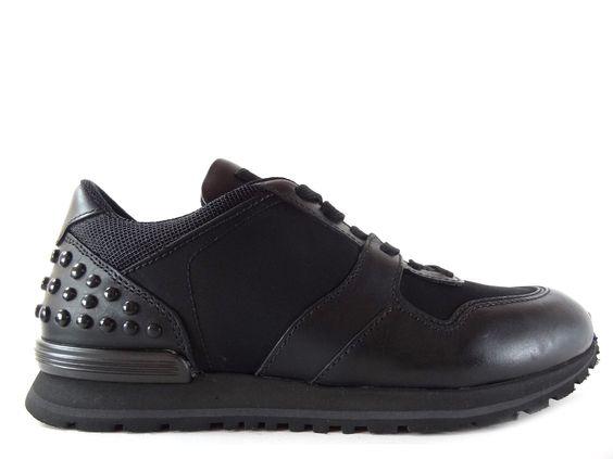 Sneakers Tod's - Todrun Picots en cuir et toile noir