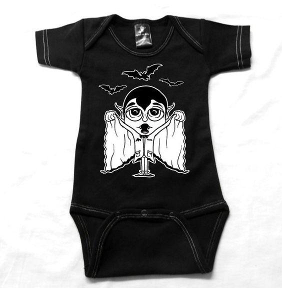 Halloween Vampire Onsie by rebelinkbaby on Etsy, $16.00