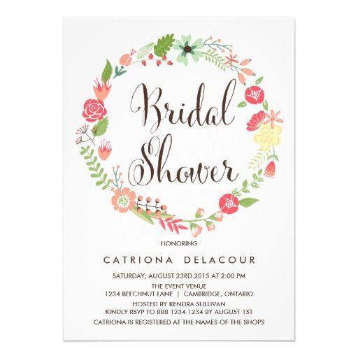 Pretty Wreath Garden Bridal Shower Invitation