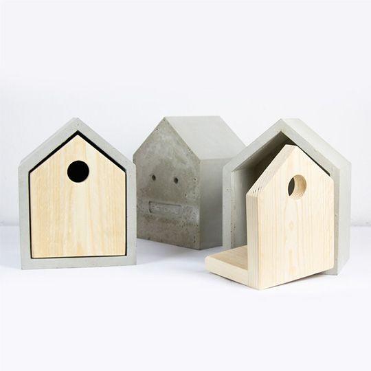 Vogelhaus Modern nistkasten aus beton concrete beton liebe