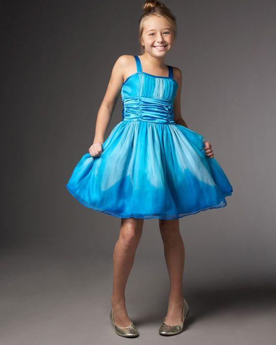 blue kids dress 2  Wedding ideas for Erika  Pinterest  Kid ...