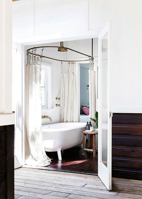 Clawfoot Tub Bathroom, Country Living Bathrooms