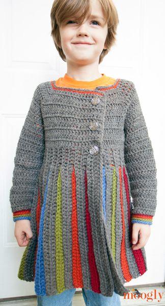 Free Crochet Pattern Girl Sweater : Free Pattern: Eloise Girls Sweater - now for big kids ...