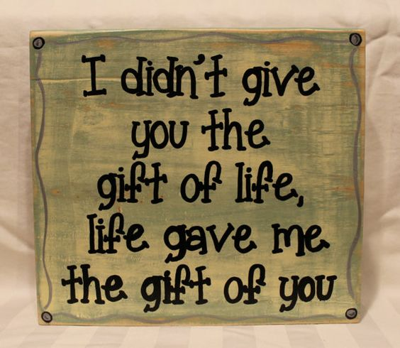 I didn't give you the gift of life life gave me the gift of you - Adoption quotes by Coastie Girl Designs, on Etsy and Facebook: