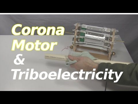 Powering Corona Motor with Triboelectric Effect - YouTube