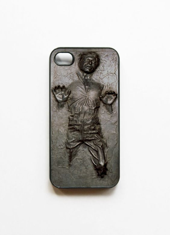 iPhone 4 Case Star Wars Frozen Han Solo Frozen in Carbonite     I WANT ONE!!!!!