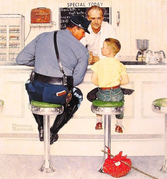 The Runaway - Norman Rockwell - 1958