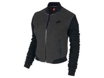 nike tech fleece 3mm bomber women 39 s jacket dress to. Black Bedroom Furniture Sets. Home Design Ideas