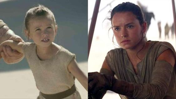 5. Cailey Fleming And Daisy Ridley, Rey ('Star Wars: The Force Awakens'):