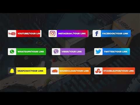 Social Media Lower Thirds For Adobe Premiere Pro Free Template Youtube In 2020 Lower Thirds Social Media Lower