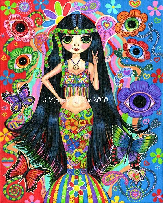 * Hippie Girl Mermaid ~by Blonde Blythe *