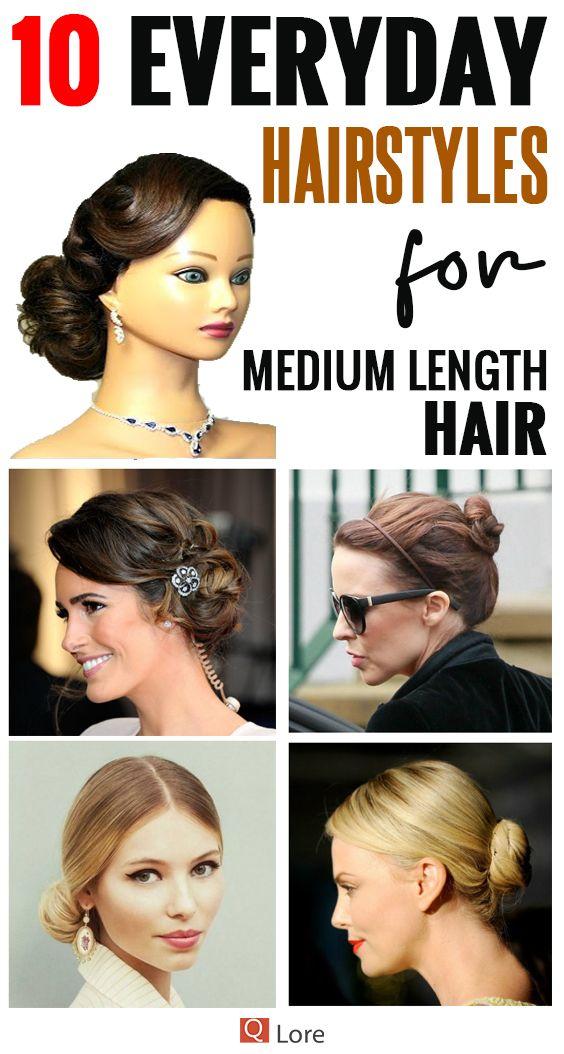 10 Easy Everyday Hairstyles For Medium Length Hair Medium Length Hair Styles Easy Everyday Hairstyles Damp Hair Styles