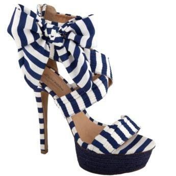 Blue and white striped heels, super cute! | Shoes are a girl's ...