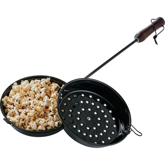 Popcorn Popper für Lagerfeuer